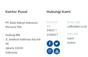 Customer Service No Telp Call Center BRI Bebas Pulsa 24 Jam