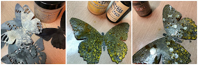 Tim Holtz Sizzix Tattered Butterfly Distress Oxide Sprays Alcohol Pearls Tutorial by Sara Emily Barker https://frillyandfunkie.blogspot.com/2019/03/saturday-showcase-tim-holtz-tattered.html 26