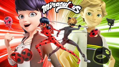 miraculous ladybug and cat noir, animation, poster