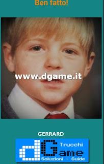 Soluzioni Guess the child footballer livello 32