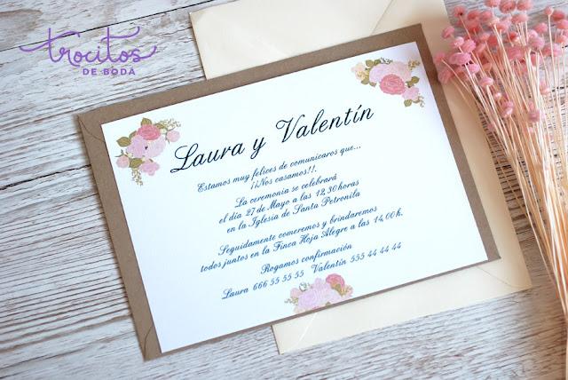 invitacion de boda modelo peonias trocitos de boda