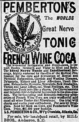 Pemberton's Tonic - French Wine Coca