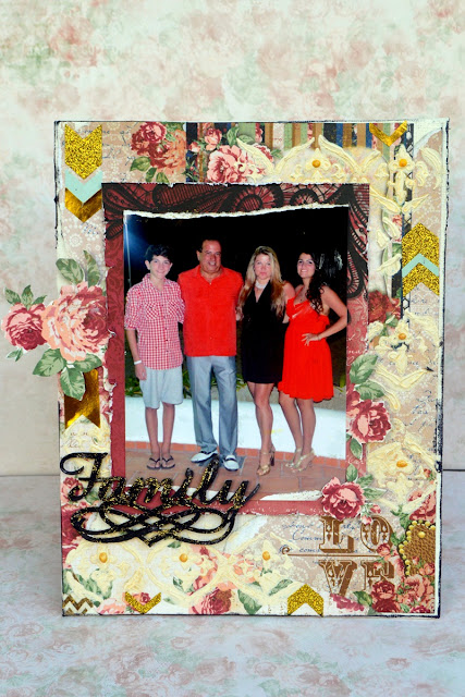 Family Love canvas by Agnieszka Bellaidea for BoBunny featuring Love Lace collection