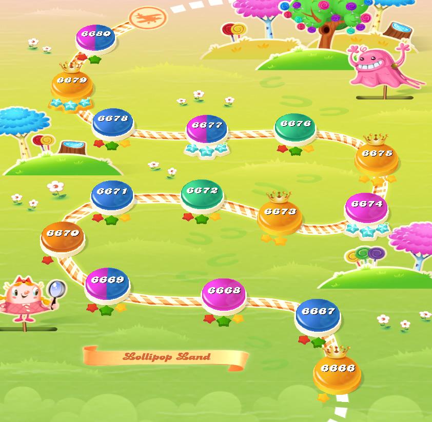 Candy Crush Saga level 6666-6680