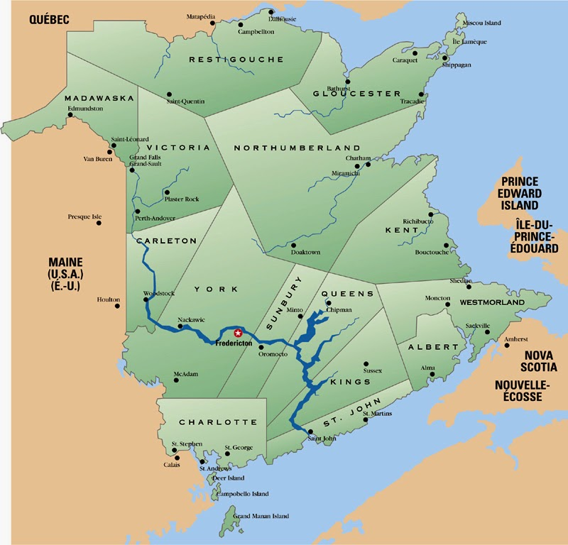 Climbing My Family Tree: Counties of New Brunswick