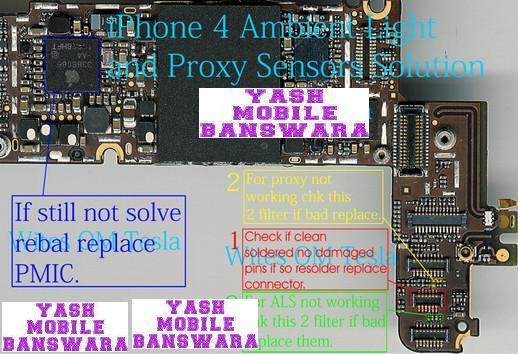 Yash Mobile Banswara: iPhone 4 Ambient Light and Proxy