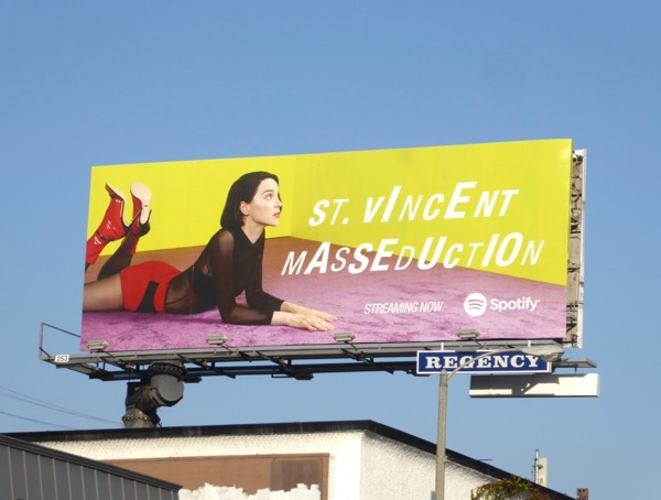 St Vincent Masseducation Spotify billboard