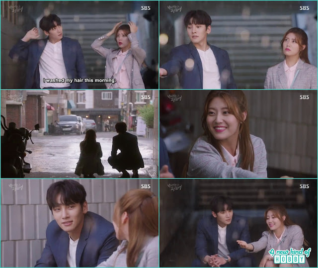 ji wook and bong hee enjoy the rain -  Suspicious Partner: Episode 11 & 12 korean drama