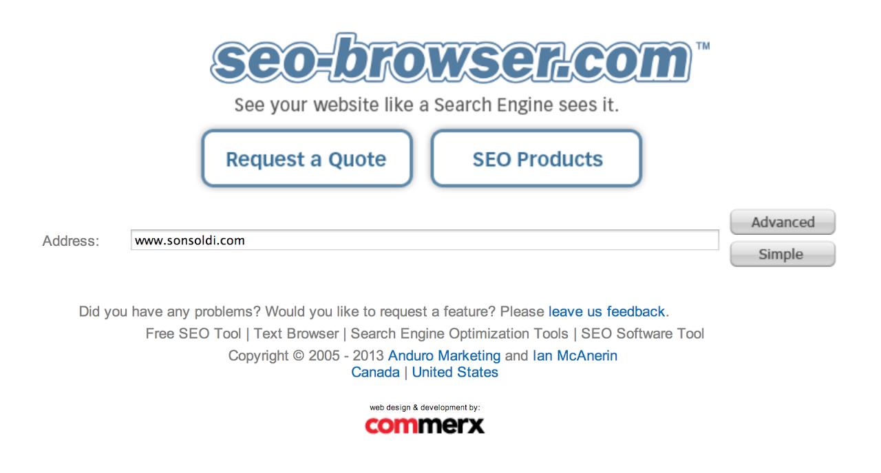 i motori di ricerca come vedono il tuo sito
