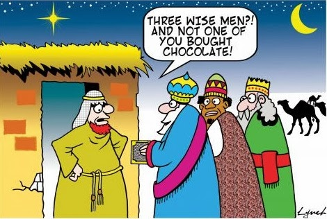 Funny Three Wise Men and none of your brought chocolate