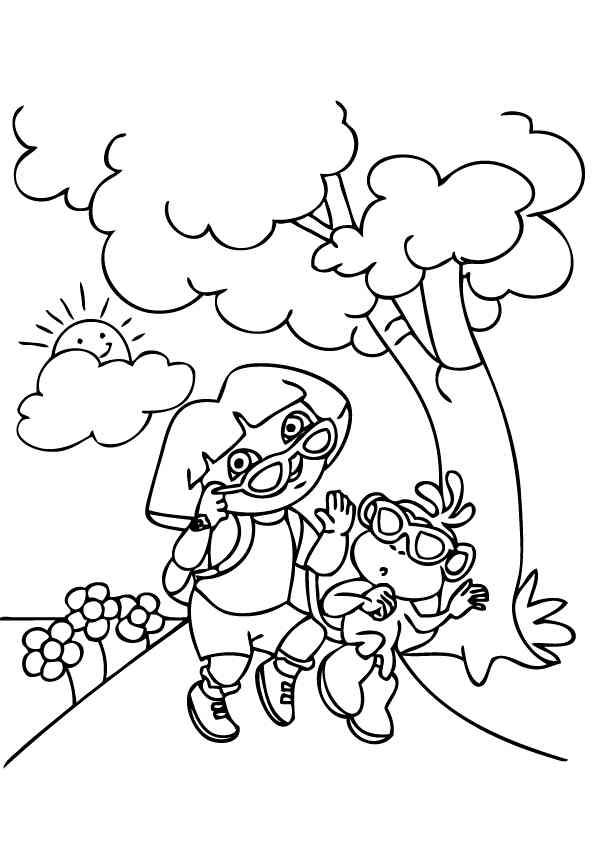 Dora Coloring Pages Cutecoloring Com