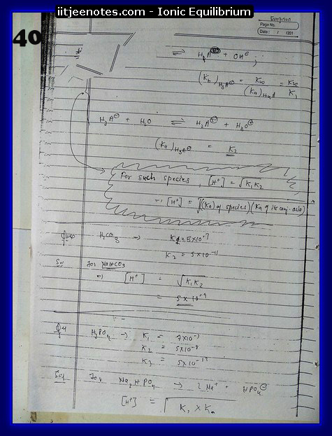 Ionic Equilibrium Notes IITJEE 8