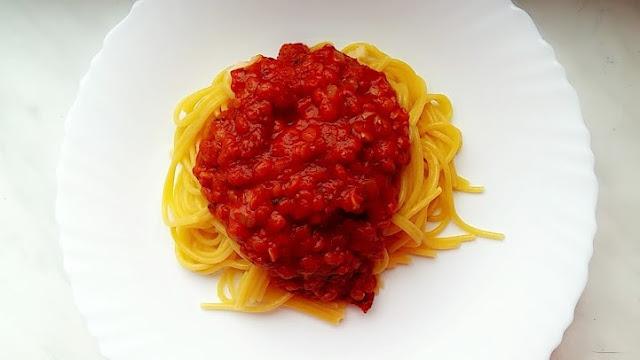 wegańskie spaghetti