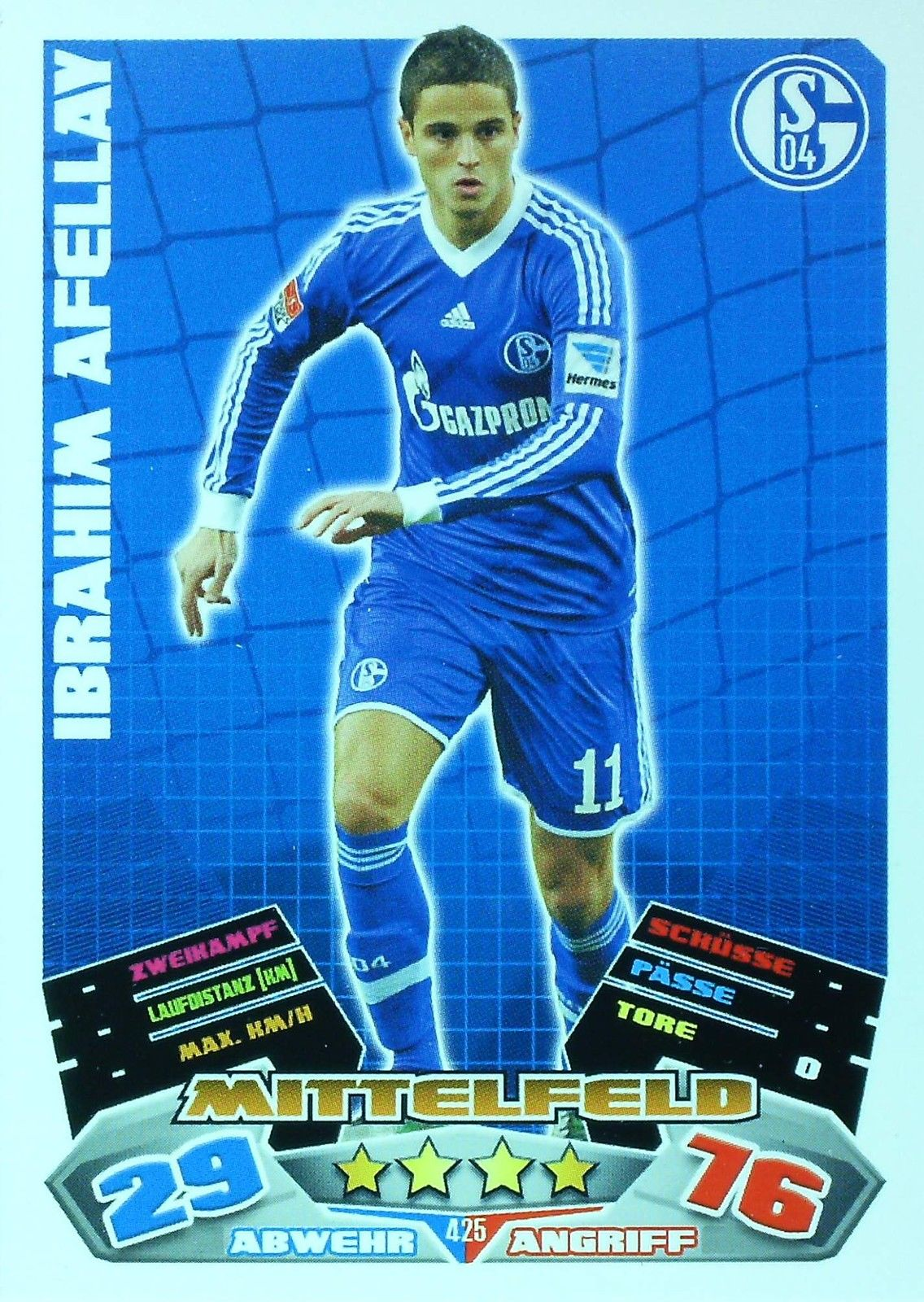 KARIM BELLARABI # DEUTSCHLAND BAYER LEVERKUSEN CARD MATCH ATTAX BUNDESLIGA 2013