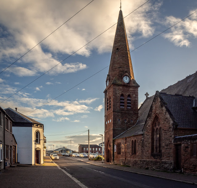 Photo of a different view of Christ Church at Maryport
