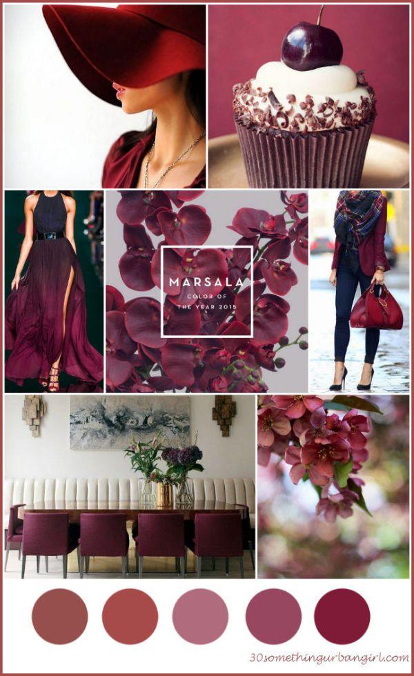 Pantone color of the year, Marsala mood board