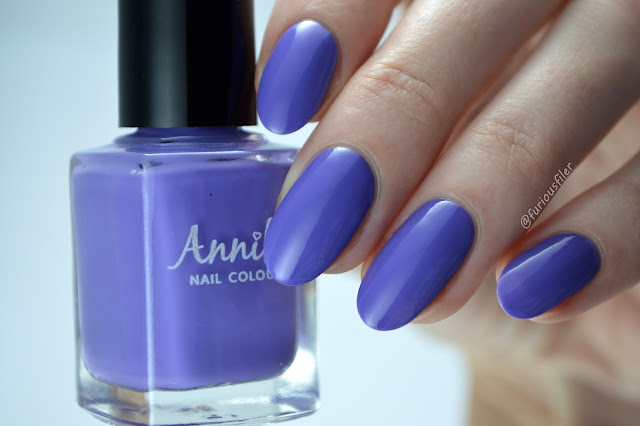 Violet creme edge nails annika swatch furious filer