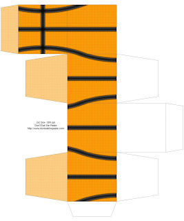 Printable basketball themed gift box