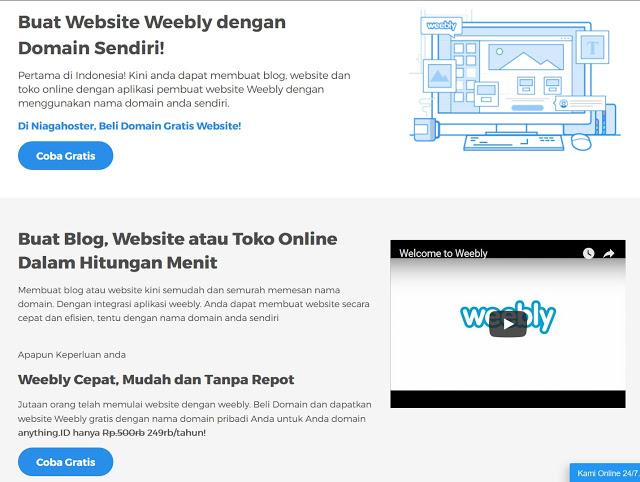Membuat Website / Blog dengan mudah