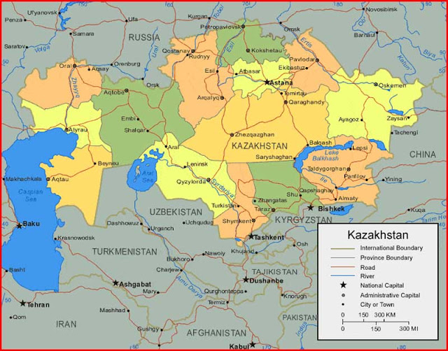 image: Kazakhstan Map HD
