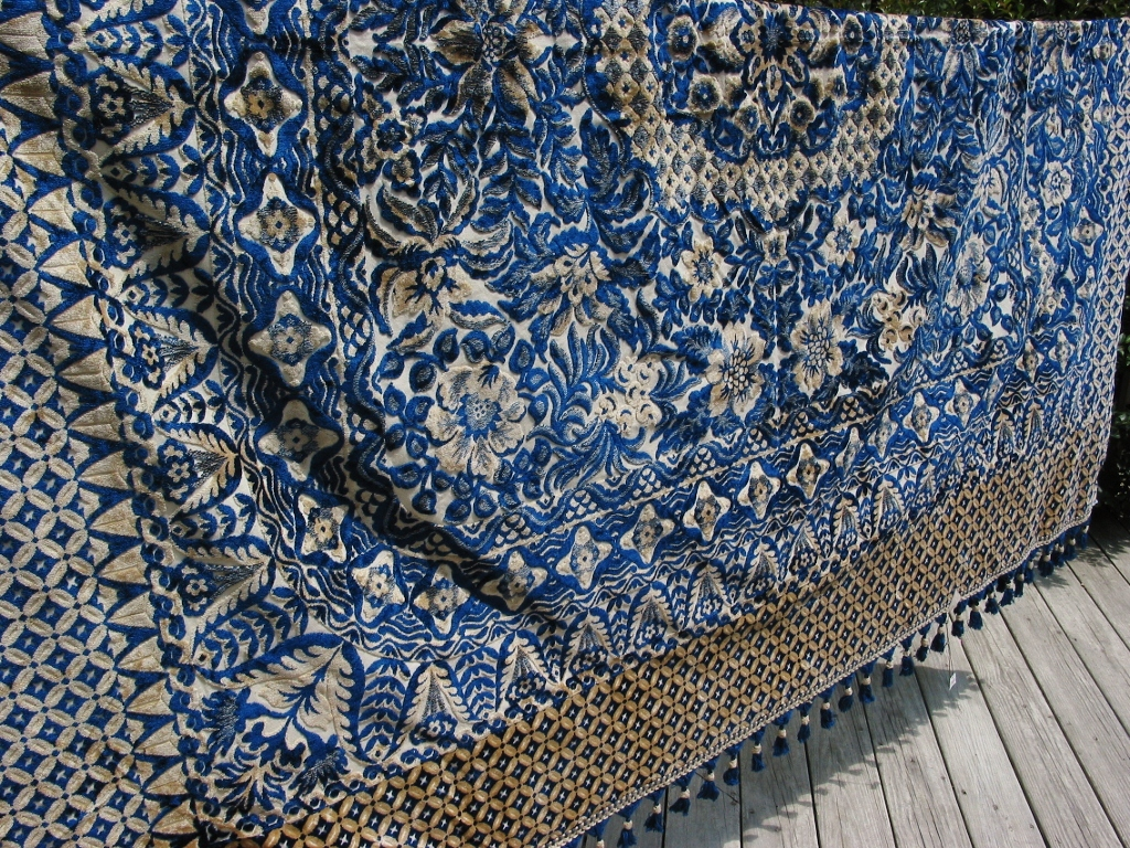 Niesz Vintage Home And Fabric Vintage Cut Velvet Fabric Collection