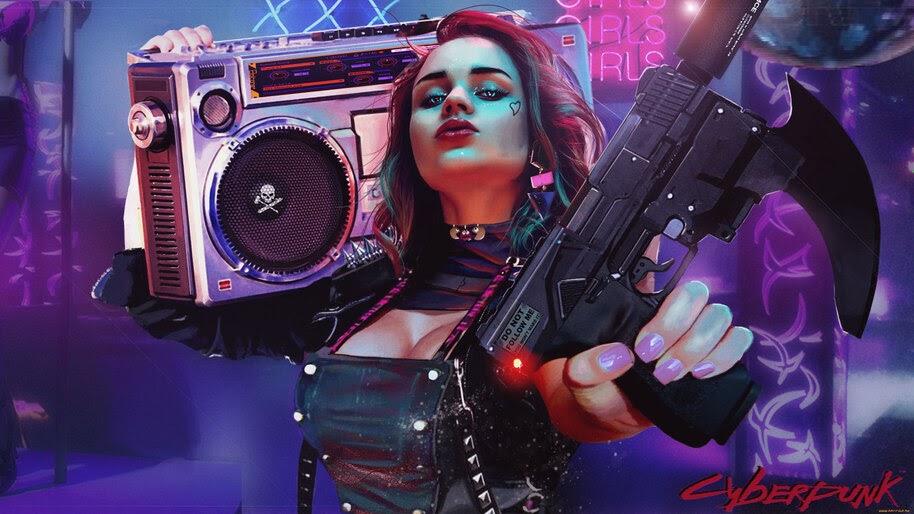 Cyberpunk, Girl, Soldier, 4K, #4.3079