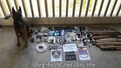 Polícia apreende armas, drogas, celulares e dinheiro falsificado em revista na penitenciária de Petrolina – PE