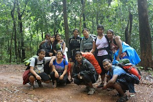 Group photo in jungle route, Dudhsagar water falls