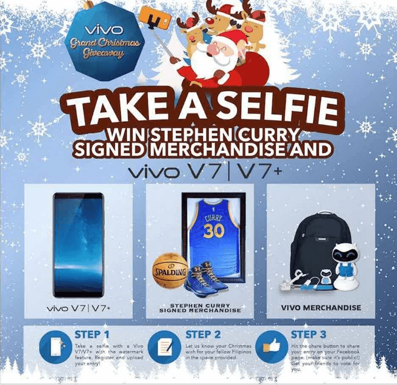 Win Signed Steph Curry Merch from Vivo's V7 / V7+ Grand Christmas Giveaway