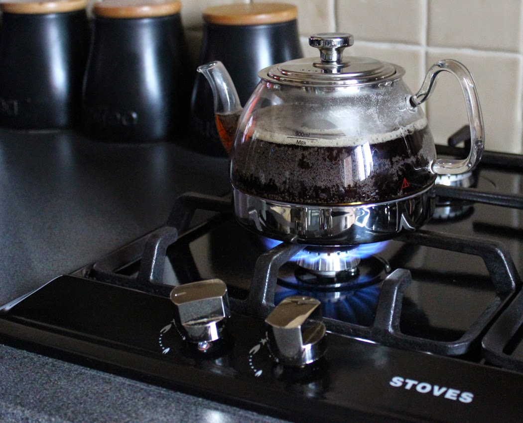 Glass Teapot on Stove