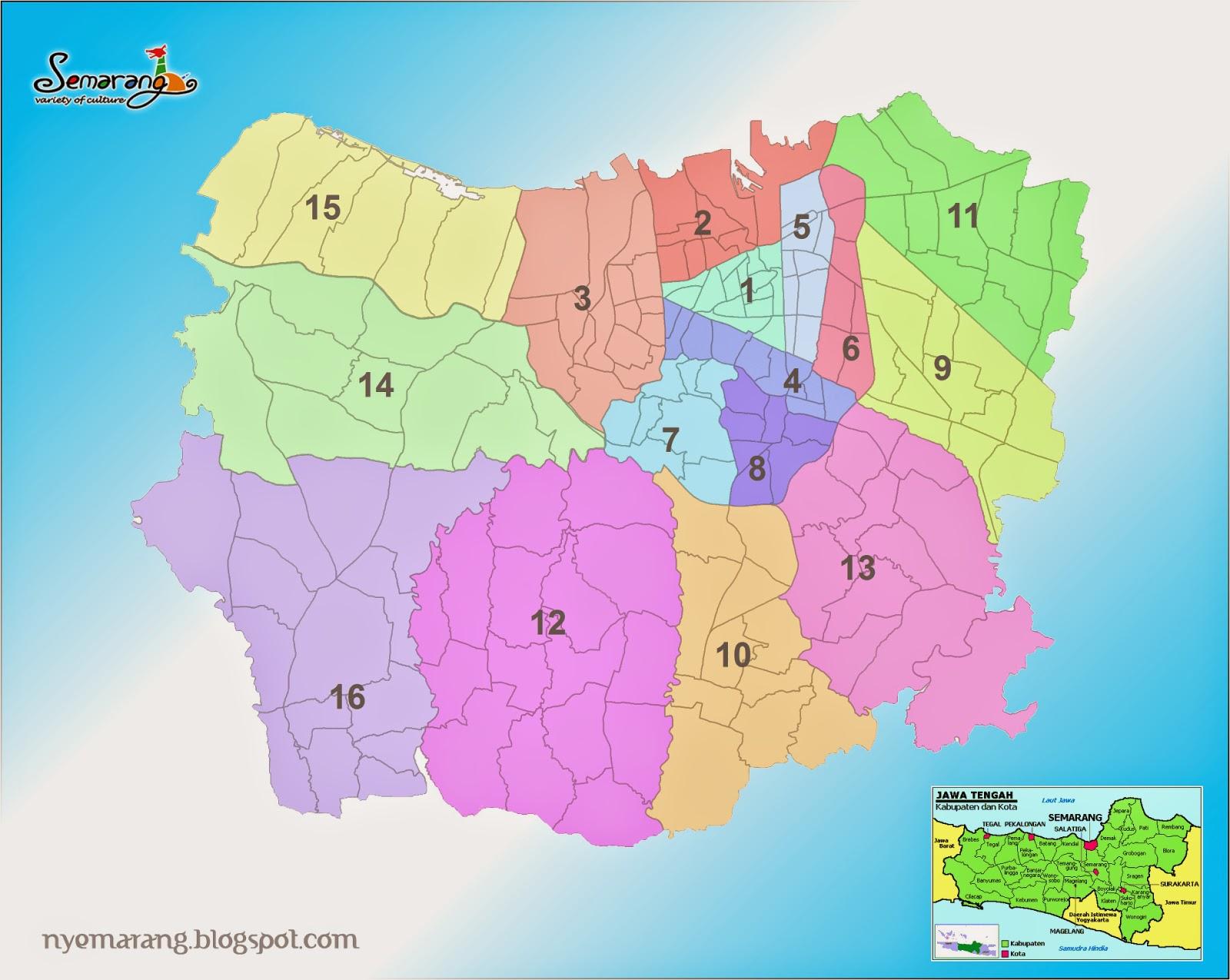 Pembagian Wilayah Administrasi Kota Semarang ~ Pamboedi File's