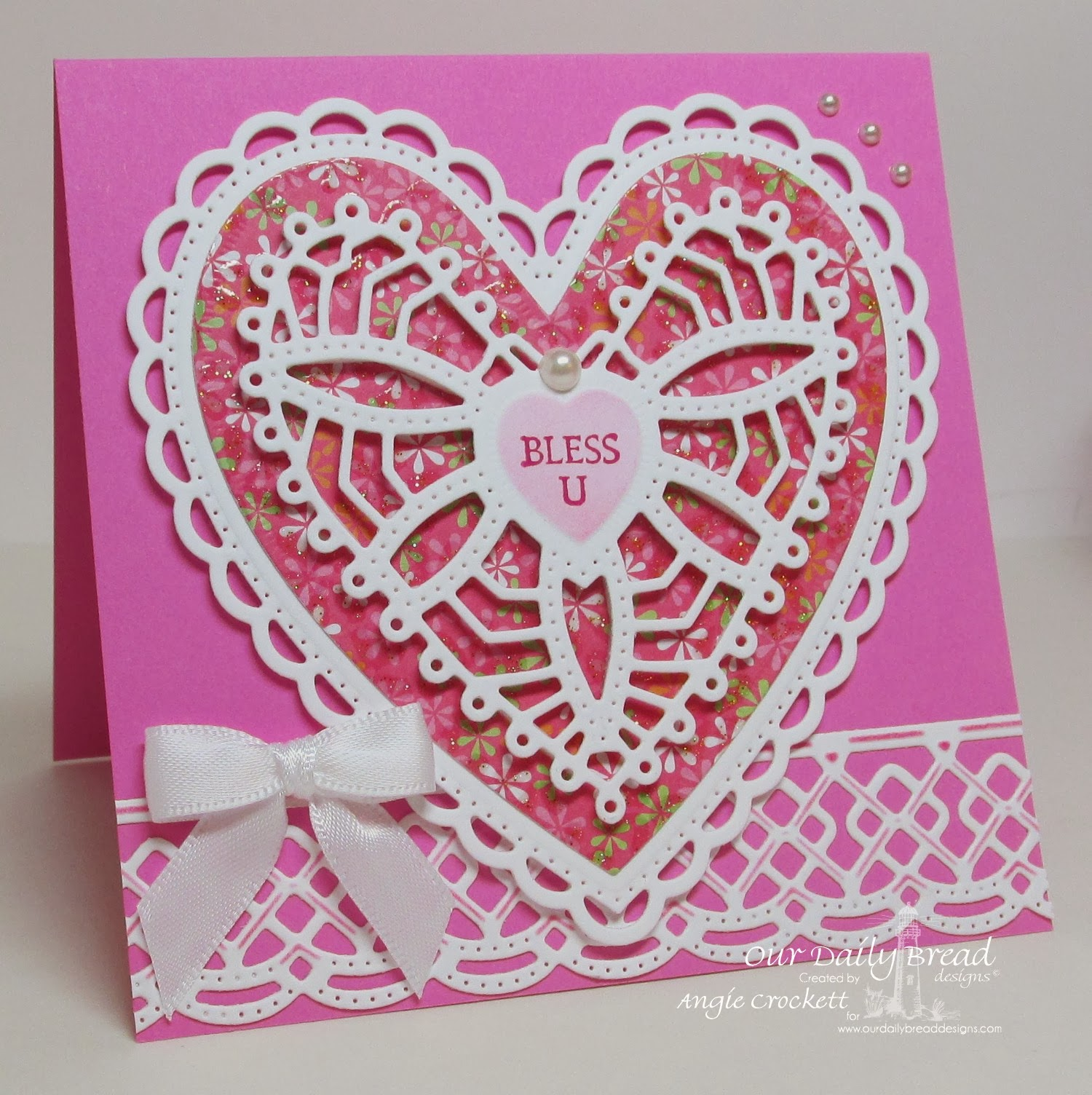 ODBD Be Mine, ODBD Custom Beautiful Borders Die Set, ODBD Custom Ornate Hearts Die Set, Card Designer Angie Crockett