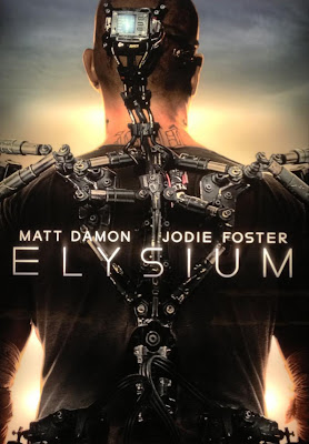 Poster Of Elysium In Dual Audio Hindi English 300MB Compressed Small Size Pc Movie Free Download Only At worldfree4u.com