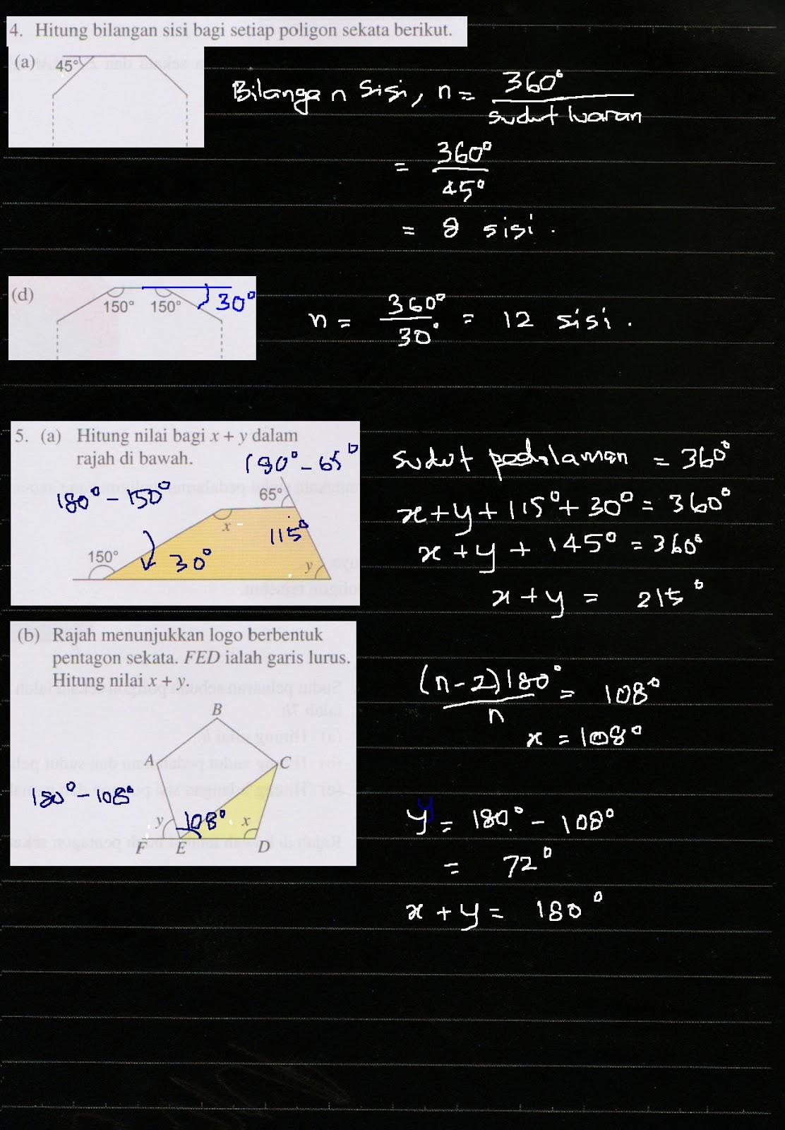 Cikgu Azman Bab 4 Poligon Matematik Tingkatan 2 Menjana Kecemerlangan