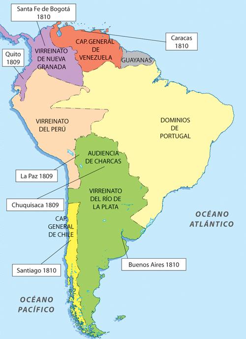 Historia de Chile ilustrada: Cronología de la creación de