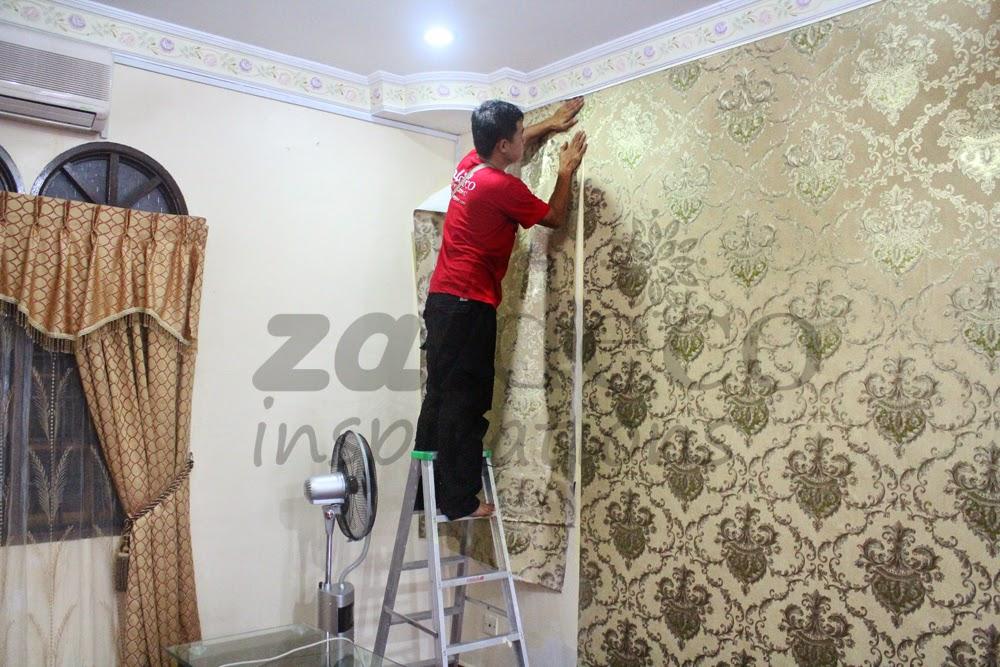 Pemasangan Kertas Dinding Zaldeco Di Paya Jaras