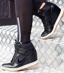 Sports Wedge Shoes  Nike High Tops Dunks Sky Hi Black Wedge Sneakers ... f8d9305fb90a