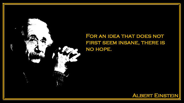For an idea that does not first seem insane Albert Einstein quotes
