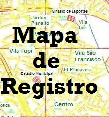 Mapa das ruas de  Registro
