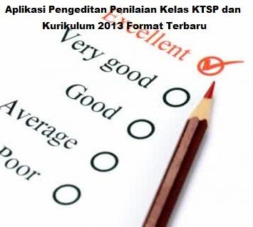 Aplikasi Pengeditan Penilaian Kelas KTSP dan Kurikulum 2013 Format Terbaru