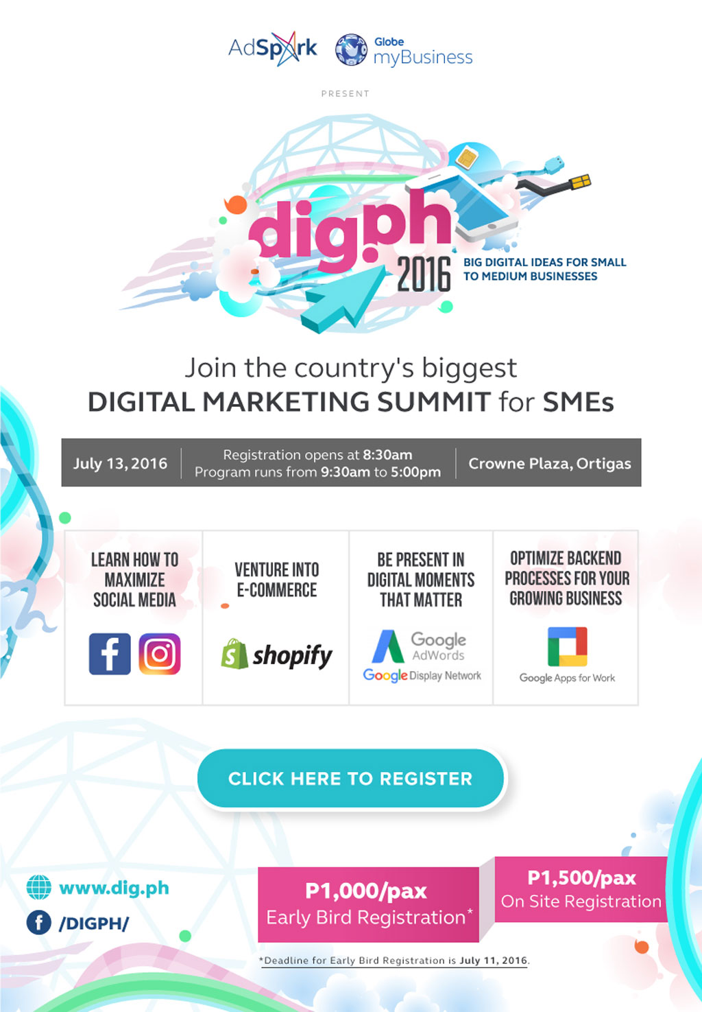DigPH Digital & Mobile Marketing SummitDigPH Digital and Mobile Marketing Summit official poster