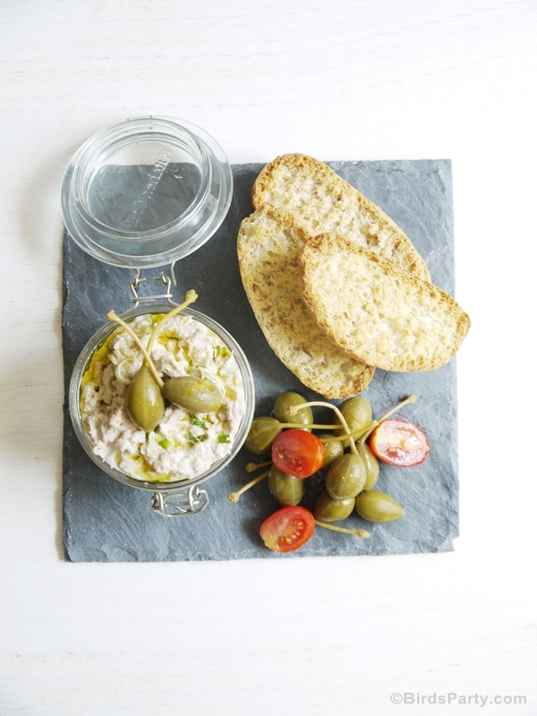 Party Appetizer | Tuna and Scallion Pâté Recipe - BirdsParty.com