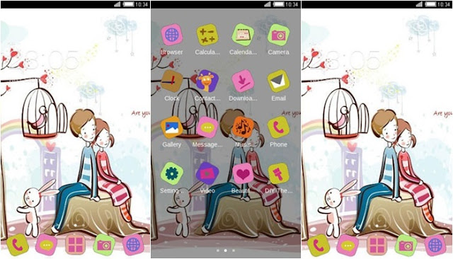 Download Tema Oppo A39 Terbaru dan Terkeren - Cute Love