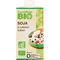 Crème de soja carrefour bio
