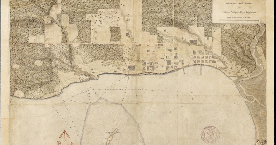 Historical Maps of Toronto  1818 Phillpotts Plan of York