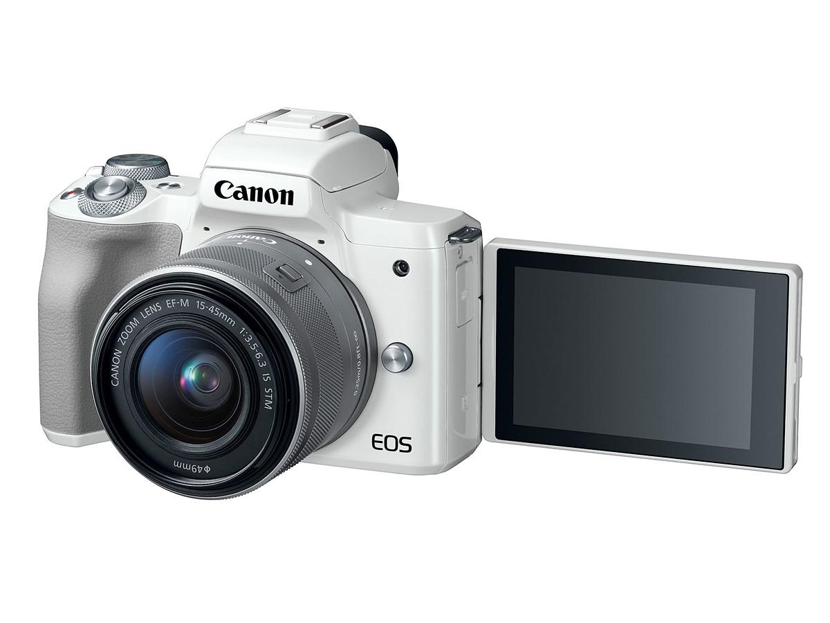 Canon EOS M50 белого цвета