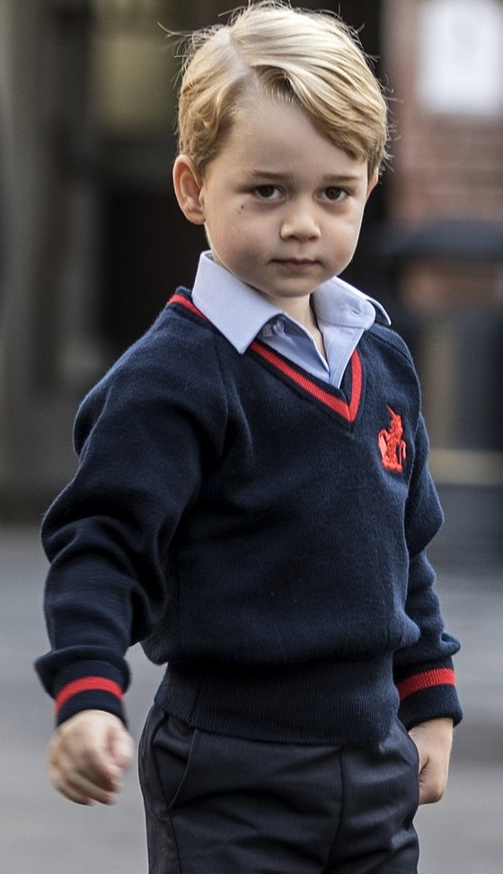 Prince George looks stunning on his first day at school