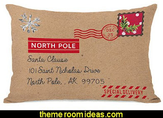 North Pole Special Delivery Woven Polyester Lumbar Pillow