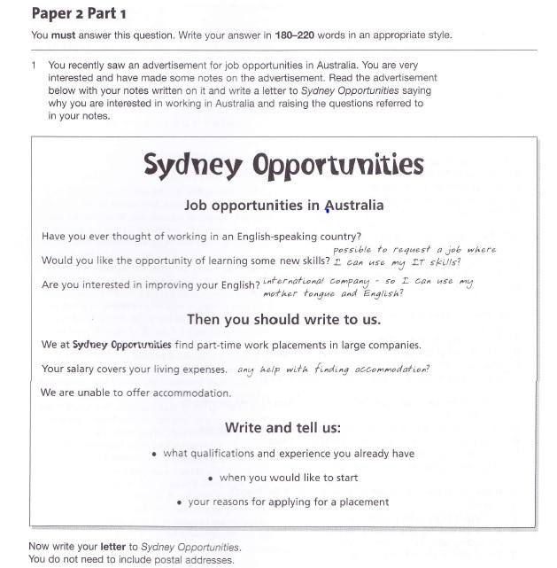 formal letter writing task