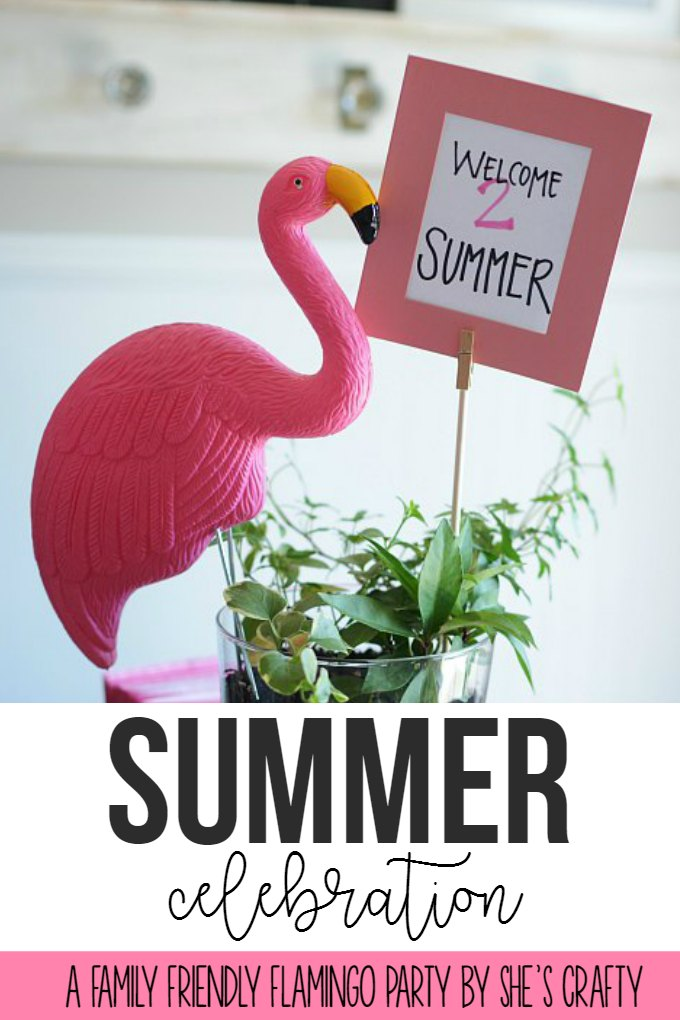 summer celebration - family friendly flamingo party